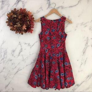 Closet London Floral Fit & Flare Circle Dress